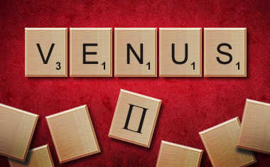 scrabble tiles spell venus