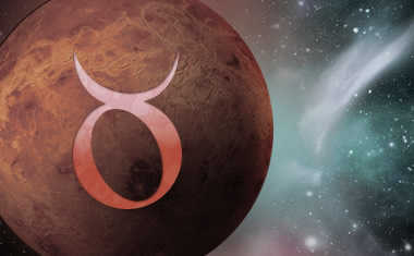 planet venus with taurus zodiac sign symbol