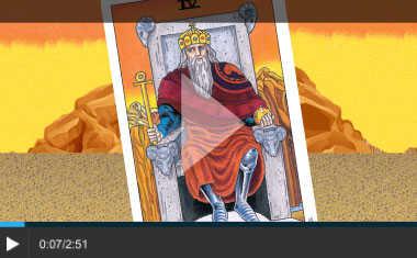 Aries Emperor Tarot Card