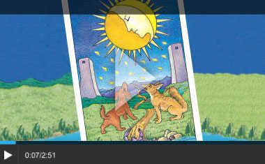 Pisces Moon Tarot Card