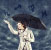 woman under umbrella with astrology symbols around