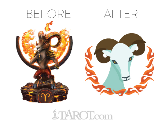 Aries Before and After