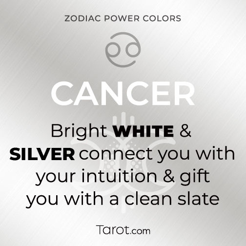 Cancer White and Silver