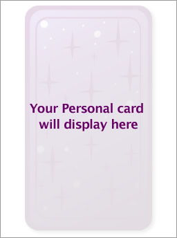 Your Personal card will display here.