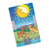 Moon Tarot Card forpisces