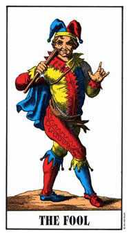 The Fool Tarot Card - Swiss (1JJ) Tarot Deck