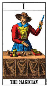 The Magician Tarot Card - Swiss (1JJ) Tarot Deck