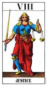 Justice Tarot Card - Swiss (1JJ) Tarot Deck