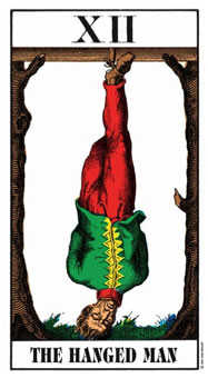 The Hanged Man Tarot Card - Swiss (1JJ) Tarot Deck