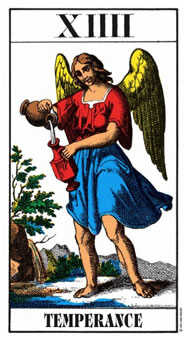 Temperance Tarot Card - Swiss (1JJ) Tarot Deck