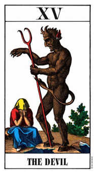 The Devil Tarot Card - Swiss (1JJ) Tarot Deck