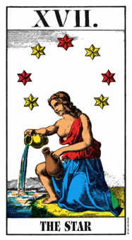 The Star Tarot Card - Swiss (1JJ) Tarot Deck