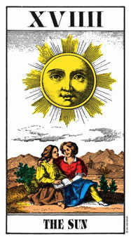 The Sun Tarot Card - Swiss (1JJ) Tarot Deck