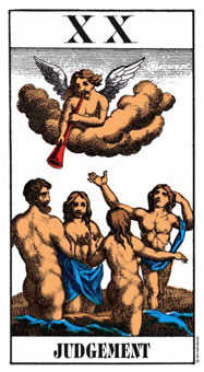 Judgment Tarot Card - Swiss (1JJ) Tarot Deck