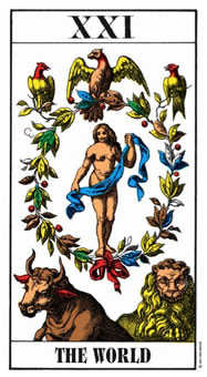 The World Tarot Card - Swiss (1JJ) Tarot Deck