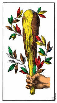 Ace of Staves Tarot Card - Swiss (1JJ) Tarot Deck