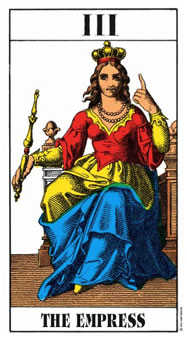 The Empress Tarot Card - Swiss (1JJ) Tarot Deck