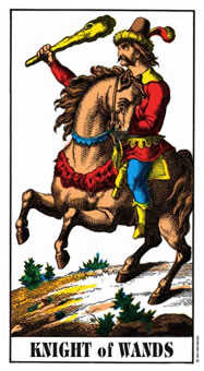Knight of Batons Tarot Card - Swiss (1JJ) Tarot Deck