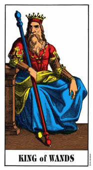 King of Staves Tarot Card - Swiss (1JJ) Tarot Deck