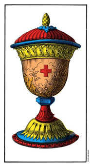 Ace of Bowls Tarot Card - Swiss (1JJ) Tarot Deck