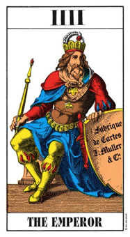 The Emperor Tarot Card - Swiss (1JJ) Tarot Deck