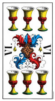 Six of Bowls Tarot Card - Swiss (1JJ) Tarot Deck