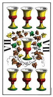 Seven of Bowls Tarot Card - Swiss (1JJ) Tarot Deck