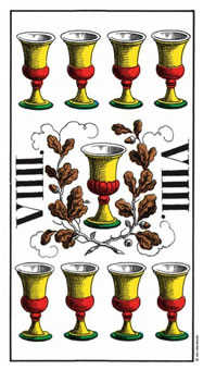 Nine of Bowls Tarot Card - Swiss (1JJ) Tarot Deck