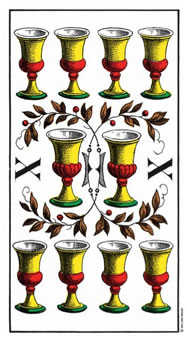 Ten of Hearts Tarot Card - Swiss (1JJ) Tarot Deck