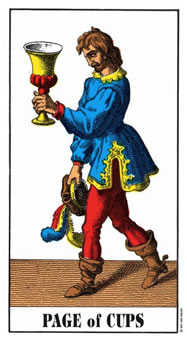 Page of Cups Tarot Card - Swiss (1JJ) Tarot Deck