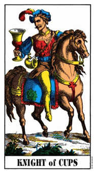 Knight of Hearts Tarot Card - Swiss (1JJ) Tarot Deck