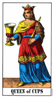 Queen of Hearts Tarot Card - Swiss (1JJ) Tarot Deck