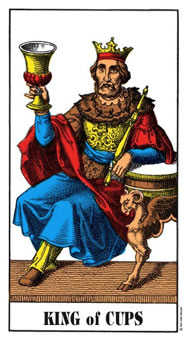 King of Cauldrons Tarot Card - Swiss (1JJ) Tarot Deck