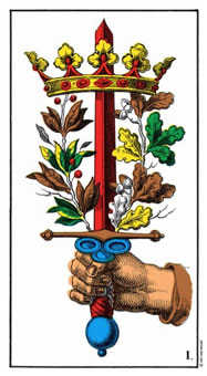 Ace of Swords Tarot Card - Swiss (1JJ) Tarot Deck