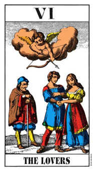 The Lovers Tarot Card - Swiss (1JJ) Tarot Deck