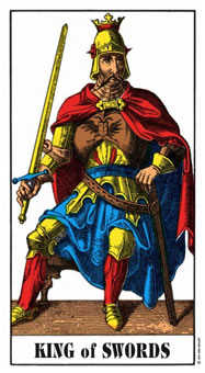 King of Swords Tarot Card - Swiss (1JJ) Tarot Deck