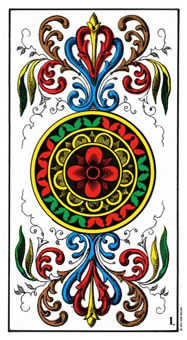 Ace of Discs Tarot Card - Swiss (1JJ) Tarot Deck