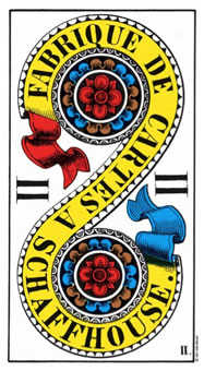 Two of Buffalo Tarot Card - Swiss (1JJ) Tarot Deck