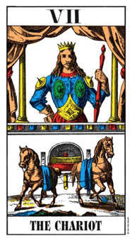 The Chariot Tarot Card - Swiss (1JJ) Tarot Deck