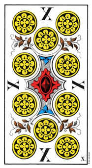 Ten of Rings Tarot Card - Swiss (1JJ) Tarot Deck