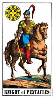 Knight of Coins Tarot Card - Swiss (1JJ) Tarot Deck