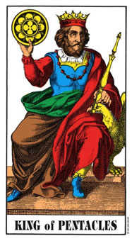 King of Pentacles Tarot Card - Swiss (1JJ) Tarot Deck