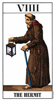 The Hermit Tarot Card - Swiss (1JJ) Tarot Deck