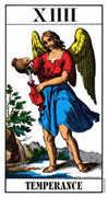 Temperance Tarot card in Swiss (1JJ) Tarot deck