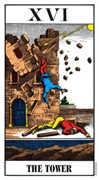 The Tower Tarot card in Swiss (1JJ) Tarot deck