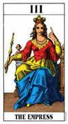 The Empress Tarot card in Swiss (1JJ) Tarot deck