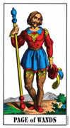 Page of Wands Tarot card in Swiss (1JJ) Tarot deck