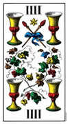 Four of Cups Tarot card in Swiss (1JJ) Tarot deck