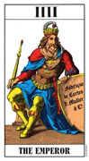The Emperor Tarot card in Swiss (1JJ) Tarot deck