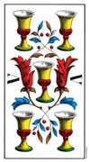 Five of Cups Tarot card in Swiss (1JJ) Tarot deck